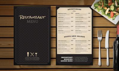 Plastic menukaarten